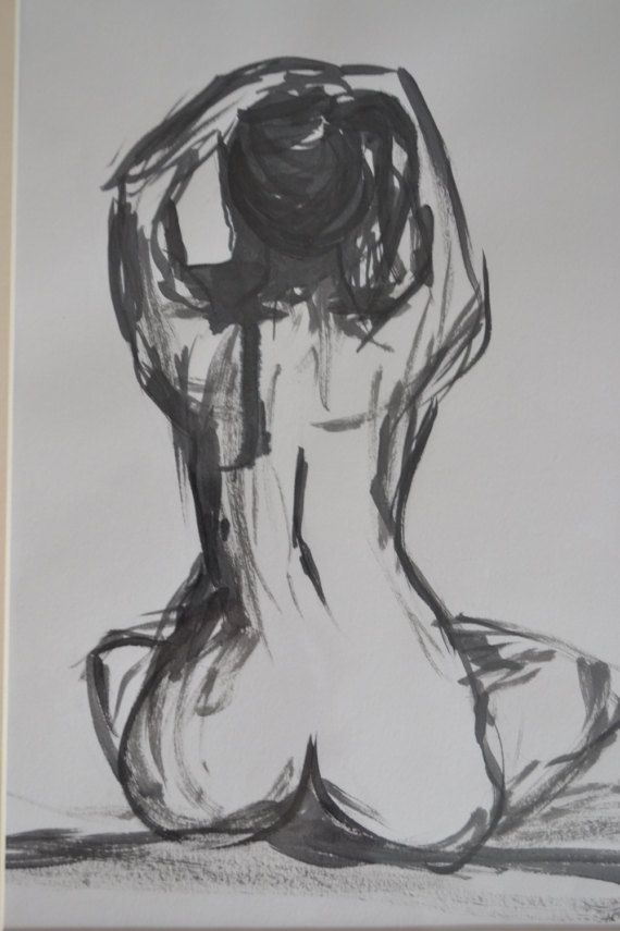 Ink life drawing by AmyRoutledgeArt on Etsy