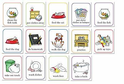 susan fitch design: job chart. Darling illustrations!