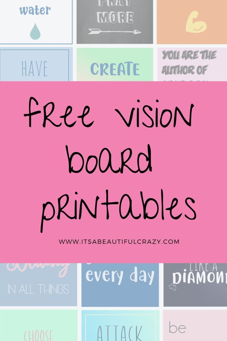 Make A Vision Board Download Our Free Printable Vision Board Cards Visionboa Board Boardka Free Vision Board Vision Board Template Vision Board Party