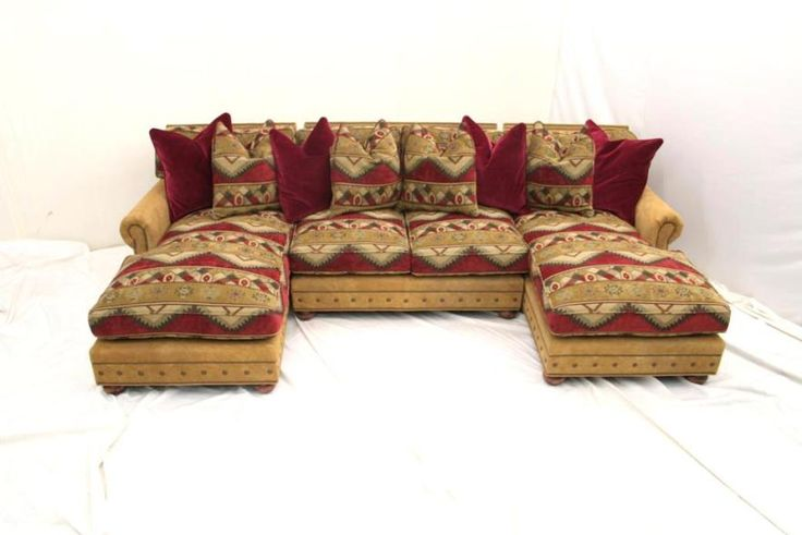Western Sectional Rustic Sectional Made in the USA Anteks Home Furnishings