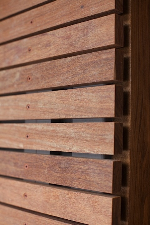 Jupiter drive details rain teak and timber cladding