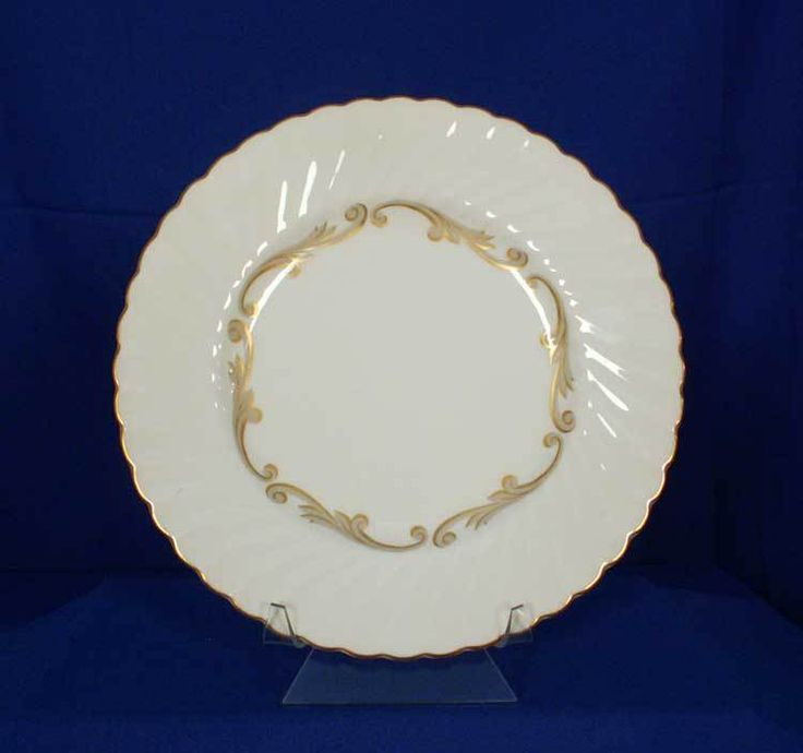 Syracuse USA Old-Ivory Baroque - Gray Pattern Dinner Plate bfe2313 #Syracuse