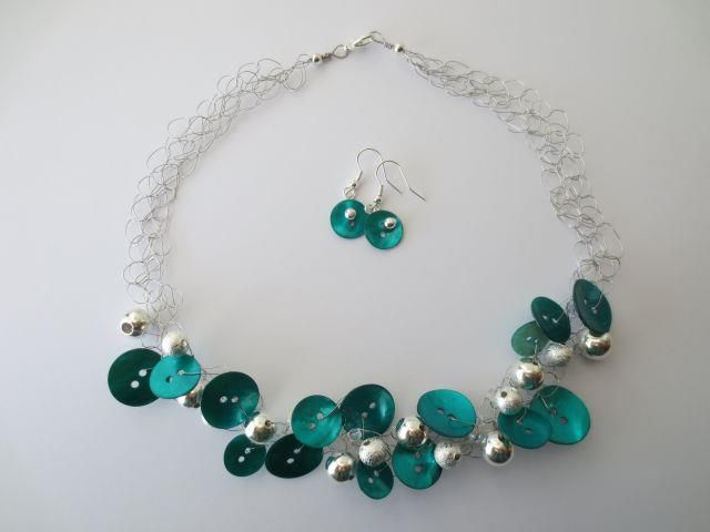 Mesh Necklace & earring set by Joanne Daiglou