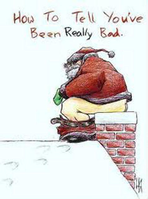 Funny Naughty Santa Cartoon