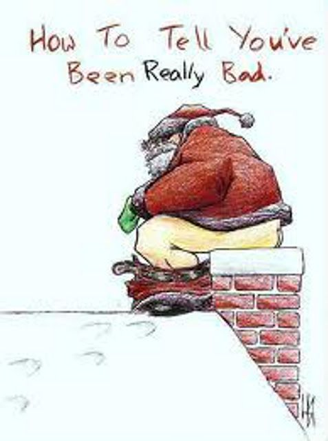 Funny Naughty Santa Cartoon