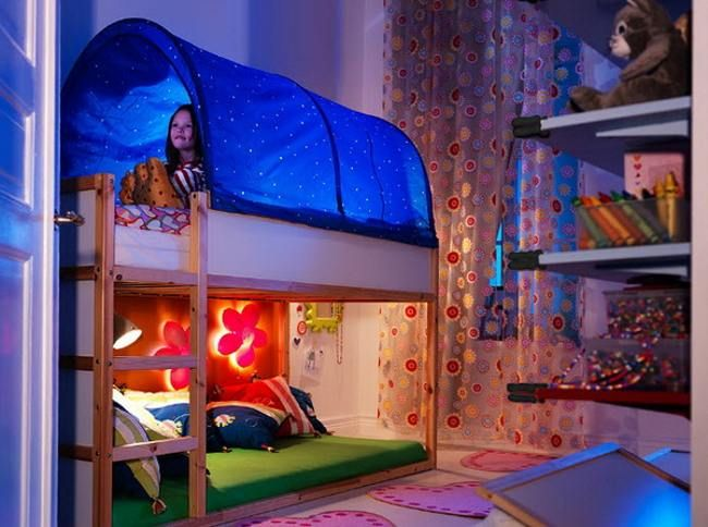 With him on the one hand are two distances between the sides bars too great a burden. There is a risk that a Ikea Childrens Beds with arms or legs and this could trap.