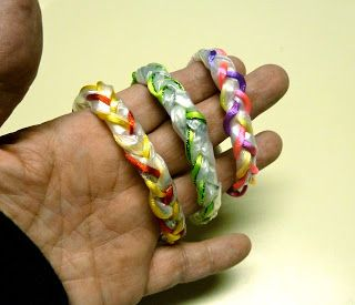 How to make recycled plastic bag bracelets · Recycled Crafts | CraftGossip.com