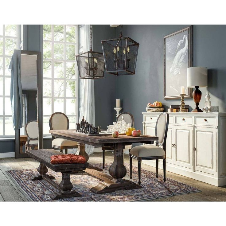 FREE SHIPPING IN THE US. USE CODE LOVE10OFF FOR 10% OFF YOUR ENTIRE PURCHASE. The beauty and quality of solid mahogany amplifies the appeal of this 8′ Trestle Dining Table. Designed to reflect a timeless genre of furnishings, its extra touches deliver an elegant plus. This piece is offered with a vast array of finish and distress options to create a truly custom design. Quick Ship, Delivers in 3 weeks or less. – 29.9H x 96.1W x 40.2D in – Mahogany – 288.81 lbs