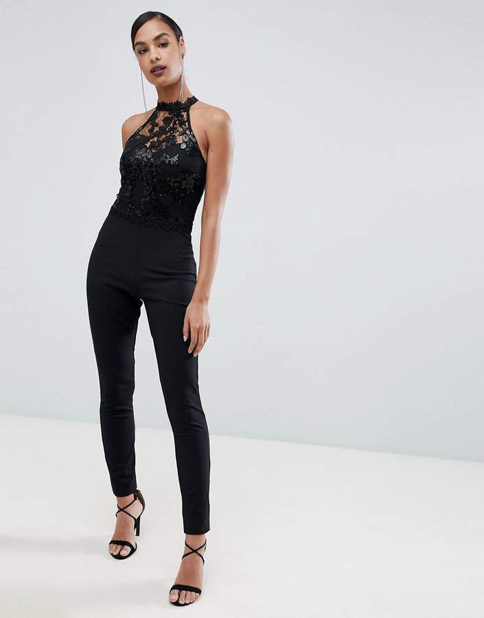 719b1ad8628 Lipsy high neck jumpsuit with sequin detail