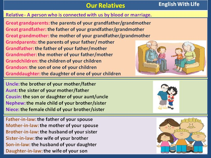 Our Relatives #learnenglish #vocabulary
