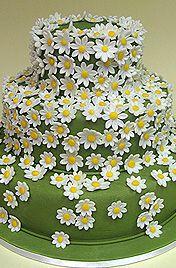 свадебный торт на заказ с ромашками