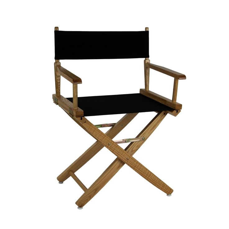American Oak Standard Height Directors Chair   Whether On The Deck Of Your  Yacht Or At Your Kidu0027s Soccer Game, The Extra Wide Premium 18 In.