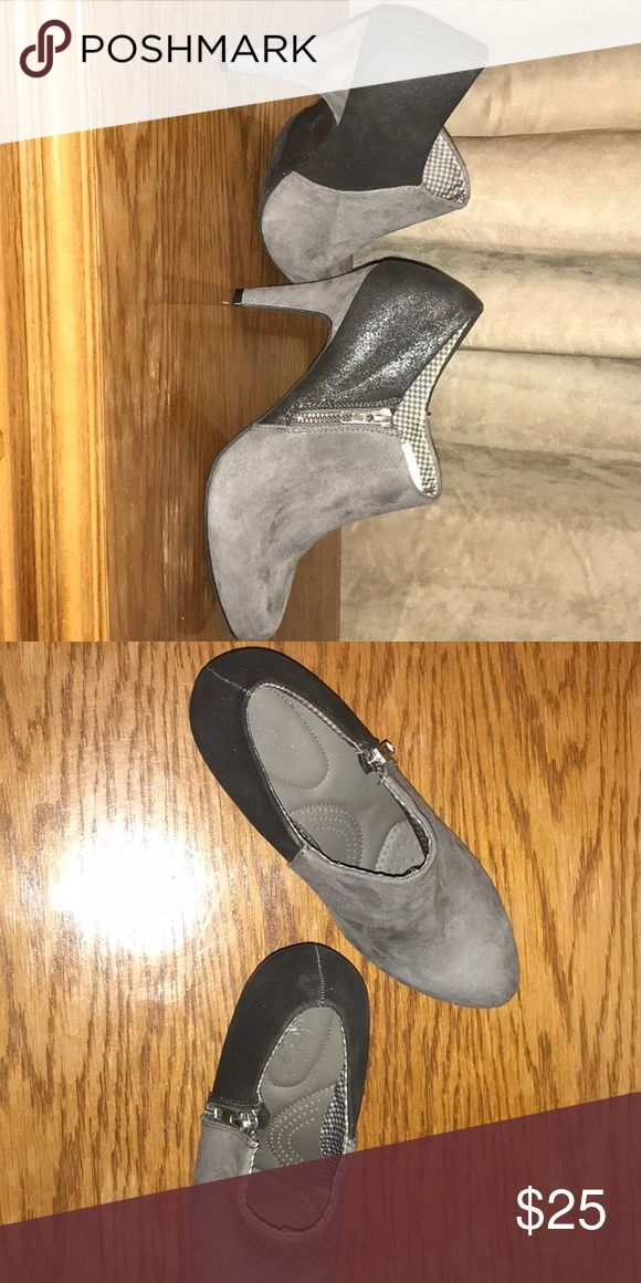 Women's heel booties Brand new, never worn. Bought from Payless shoe store for formal event and ended up not going. Sole inside shoe has extra padding. Payless Shoes Ankle Boots & Booties