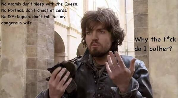 The Musketeers - Athos...and his musings....