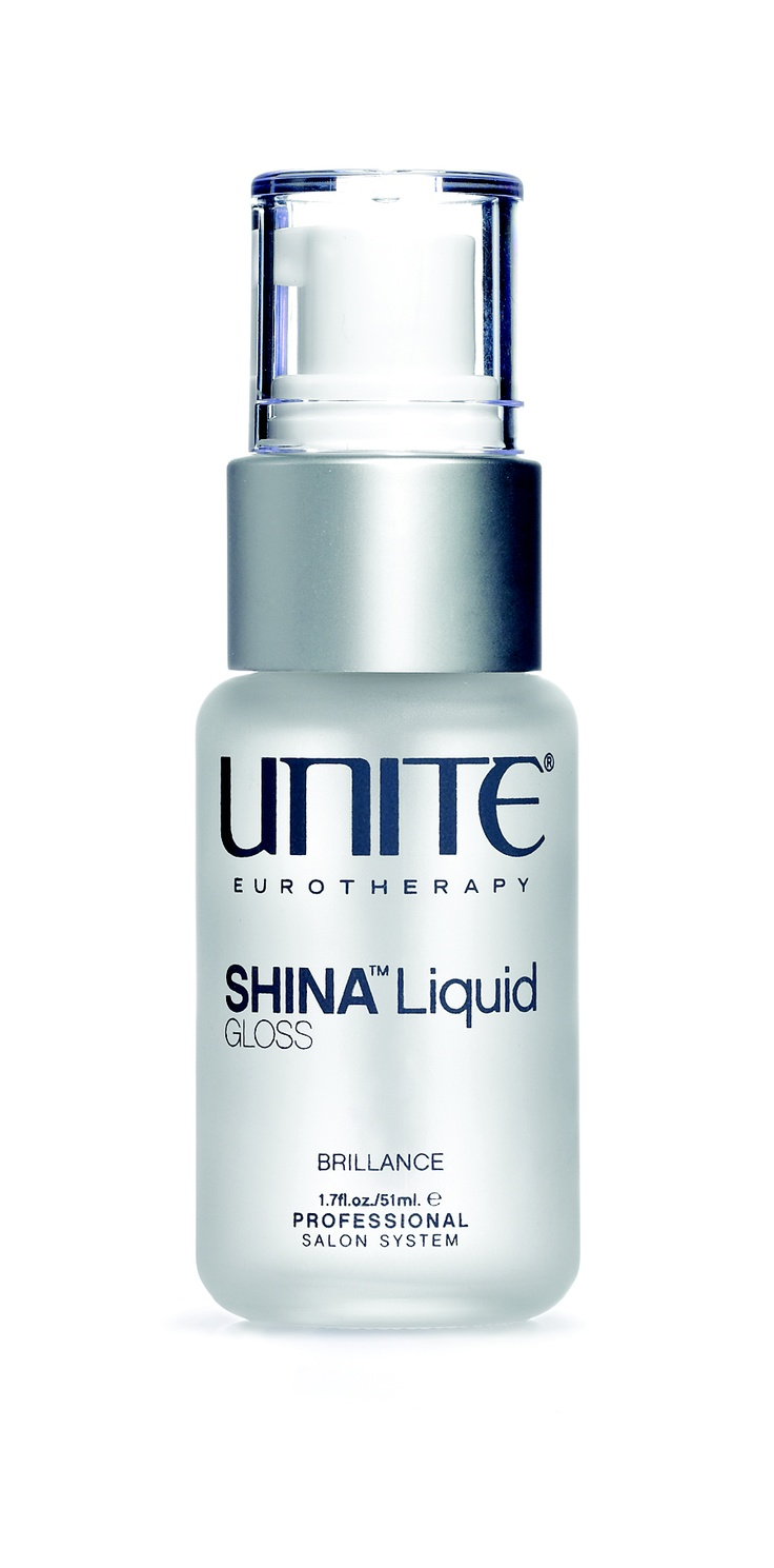 SHINA™ Liquid GLOSS  A sexy, sensuous, silky, shiny finish. A little SHINA goes a long way. Designed to instantly seal each strand of hair and reflect the glossiest of glossiness.• Amount varies upon hair thickness; a little goes a long way• Great for finishing blow dries• May be blended with all UNITE products for more slip and shine on wet or dry hair• No Alcohol•Non-Greasy• Hold factor 0•Paraben Free •Sodium Chloride Free #JoLsalon