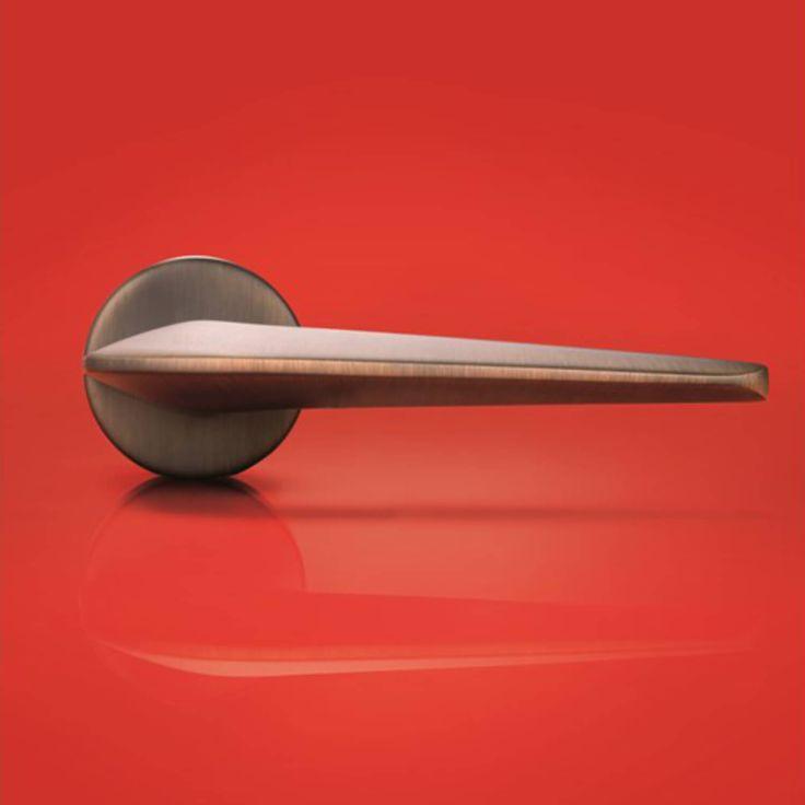 Design dørgreb mat bronze - Dørhåndtag H1052 Mikhail Leykin - Køb online