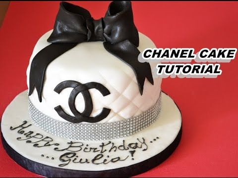 how to make chanel cake with fondant - torta chanel in pasta di zucchero - YouTube