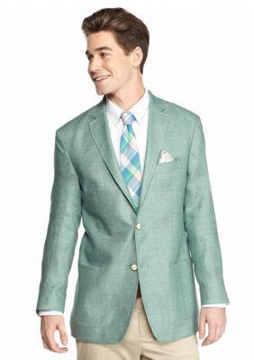 Tallia Orange  Slim-Fit Mint Green Linen Sport Coat