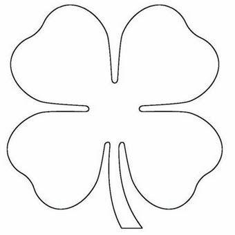 trevo de quatro folhas feltro molde - Pesquisa Google