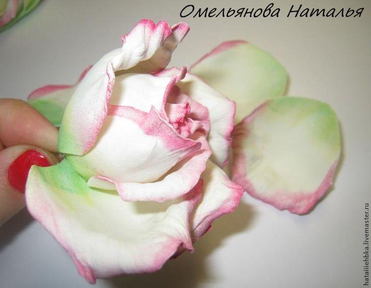 Мастер-класс: роза из фоамирана. / Прочие виды рукоделия / Цветы из ткани