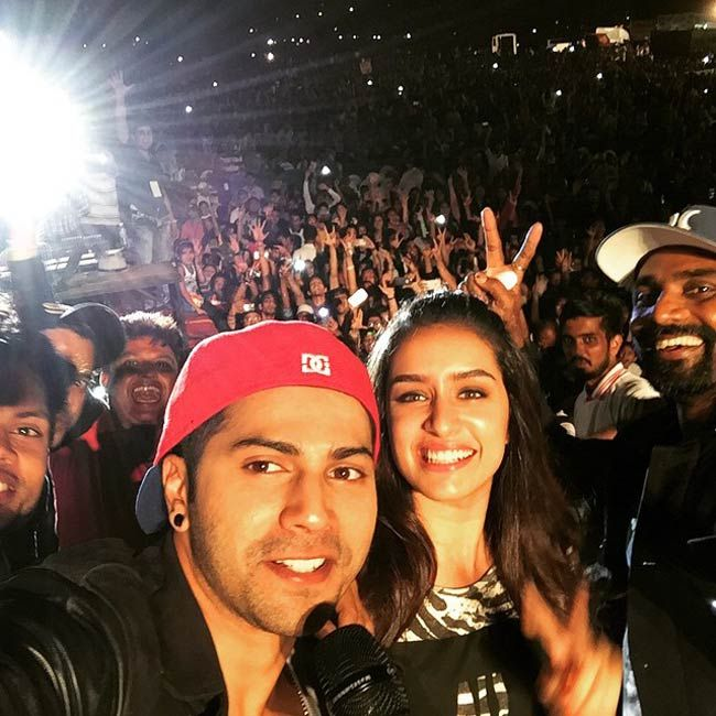 Varun Dhawan and Shraddha Kapoor at the All India Dance competition. #Bollywood…