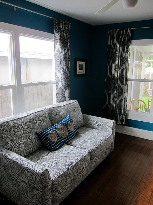 Ingrid's Saturated Colors Small Cool Contest | Apartment Therapy - love this sofa!!