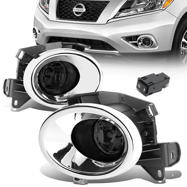 13 16 Nissan Pathfinder Smoked Lens Fog Lights W Bezel Switch Bulbs Nissan Pathfinder Fog Pathfinder