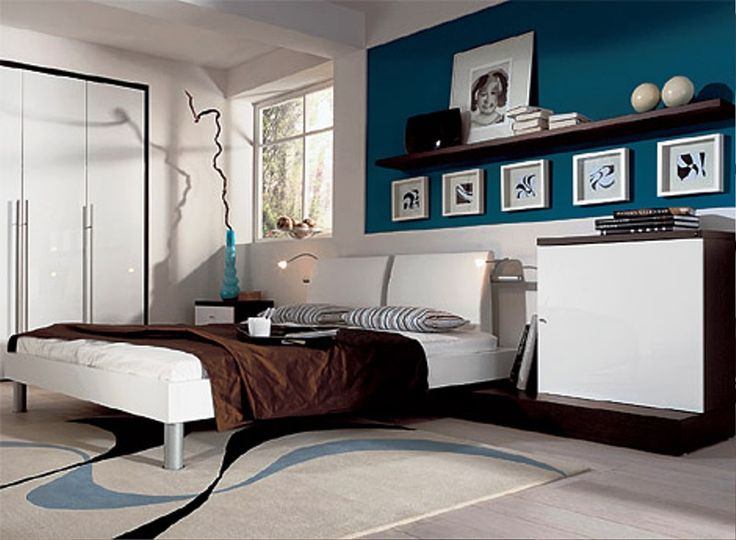 Blue White And Brown Bedroom Ideas Part - 45: Cool Blue And Turquoise Accents In Bedroom Designs 39 Stylish Ideas : Cool  Blue And Turquoise Accents In Bedroom Designs With White Blue Wall And Bed  Pillow ...