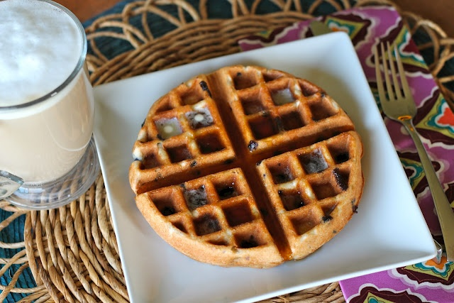 Blueberry Muffin Waffles...Muffin mix in the waffle maker. I even extended it with adding some pancake mix to it. Didn't need to add an egg. I used Martha White Whole Grains Blueberry muffin mix & added a little Aunt Jemima Whole Wheat Blend pancake waffle mix. Kids loved it!