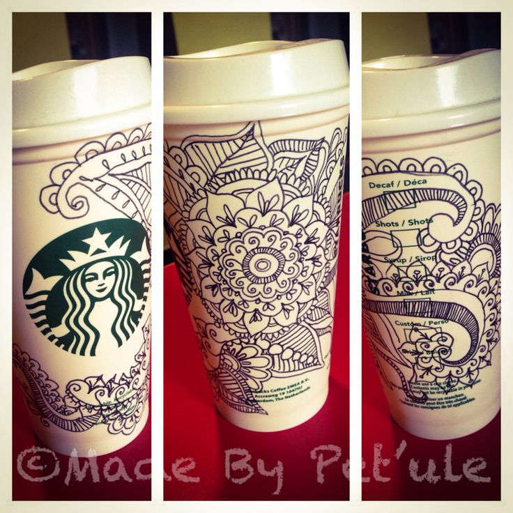Zentangle Cup Made By Peťule