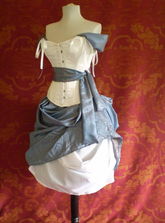 Alice In Wonderland Corset Costume OufitWhole by AliceAndWillow  This is AWESOME!!! Just make it longer and theres my weding dress