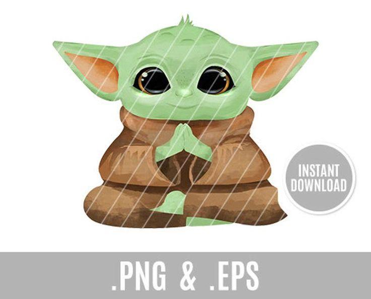 Baby Yoda Clip Art star wars space baby mandalorian | Etsy ...
