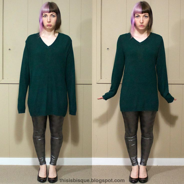 I love sweater dresses but can never find one to fit properly...now I can MAKE it fit!! DIY: Oversized Sweater Reconstruction Tutorial