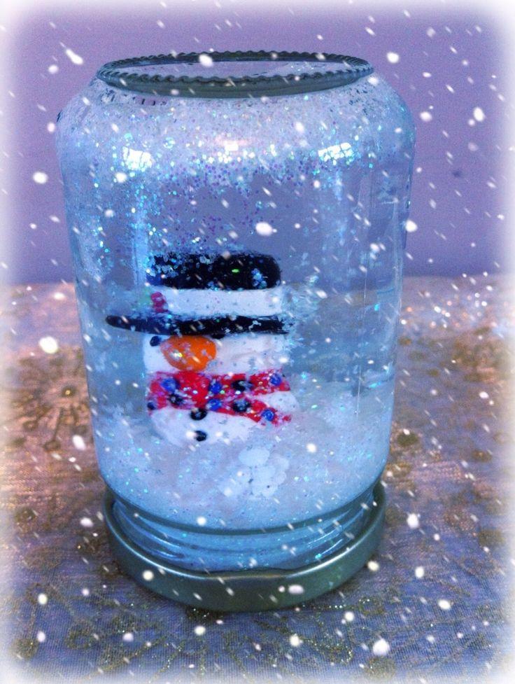 Fimo Snowman Snow Globes.