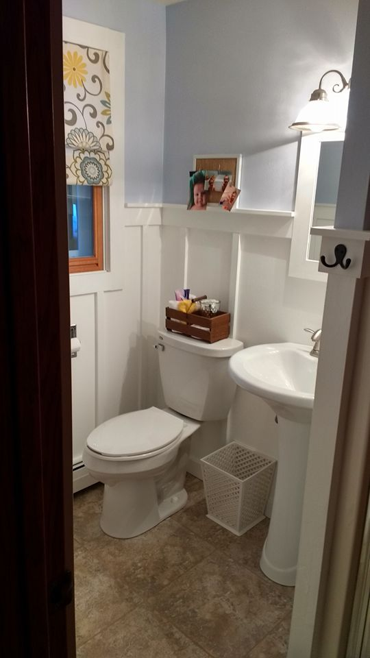 A woman updates her bathroom while her husband is away. When he returns? This is incredible!
