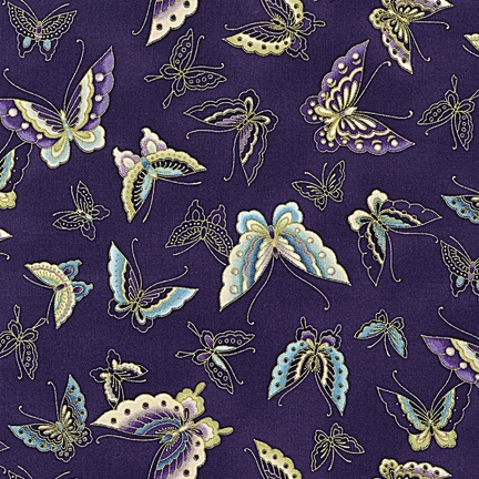 Imperial Butterflies $12/yd