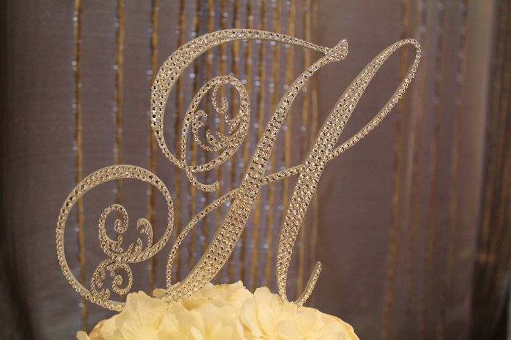 gold h wedding cake topper gold monogram cake topper letters monogram cake 14786