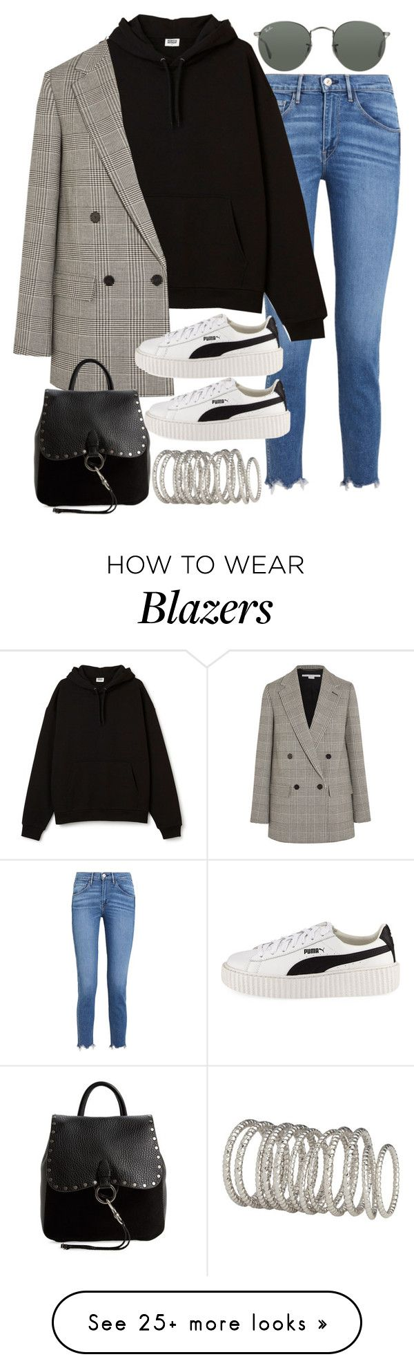 """Sin título #2374"" by alx97 on Polyvore featuring 3x1, STELLA McCARTNEY, Puma, Rebecca Minkoff, Ray-Ban and H&M"
