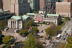 Vancouver Art Gallery is only 2 minutes on foot from Canada Line Vancouver City Centre Station. World class exhibitions, events and art for sale...don't miss it!!   http://www.vanartgallery.bc.ca/