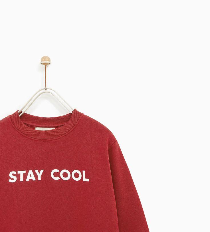 Image 2 of 'STAY COOL' SWEATSHIRT from Zara