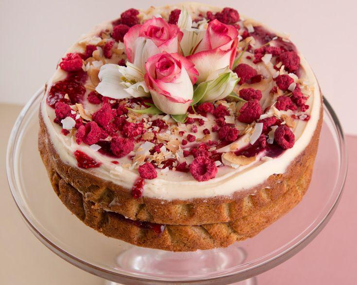The Caker's Orange Zest, Pear & Raspberry Cake