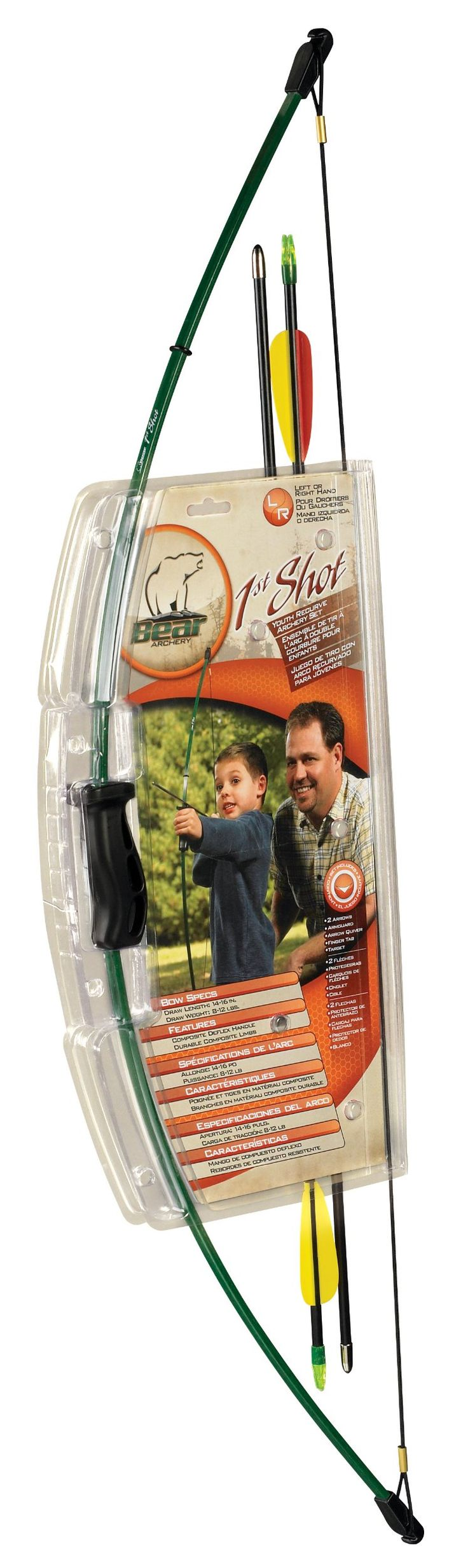 Kadin- Amazon.com : Bear Archery First Shot Youth Bow Set : Bow And Arrow : Sports & Outdoors