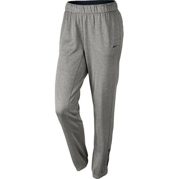 Women's Nike All-Time Therma-FIT Workout Pants, Size: X LARGE, Dark... ($45) ❤ liked on Polyvore featuring activewear, activewear pants, dark gray black, dark grey sweatpants, nike, workout sweat pants, elastic cuff sweatpants and nike sweatpants