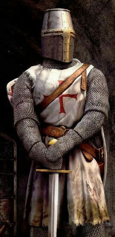 "♣ ''A Templar Knight is truly a fearless knight, and secure on every side, for his soul is protected by the armour of faith, just as his body is protected by the armour of steel. He is thus doubly armed, and need fear neither demons nor men."" Bernard de Clairvaux, c. 1135, De Laude Novae Militae—In Praise of the New Knighthood.                                                                                                                                                      More"