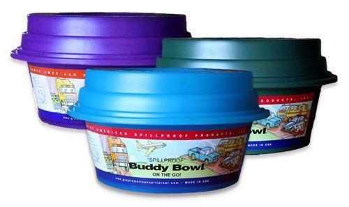 Buddy Bowl | Original Buddy Bowl | No-Spill Dog Water Bowl | Assorted Colors Buddy Bowl | Spill Proff Dog Water Bowl | JJ Dog