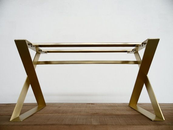 X Frame Wide Flat Brass Table Bases Are Specially Hand Crafted And Prepared  For You