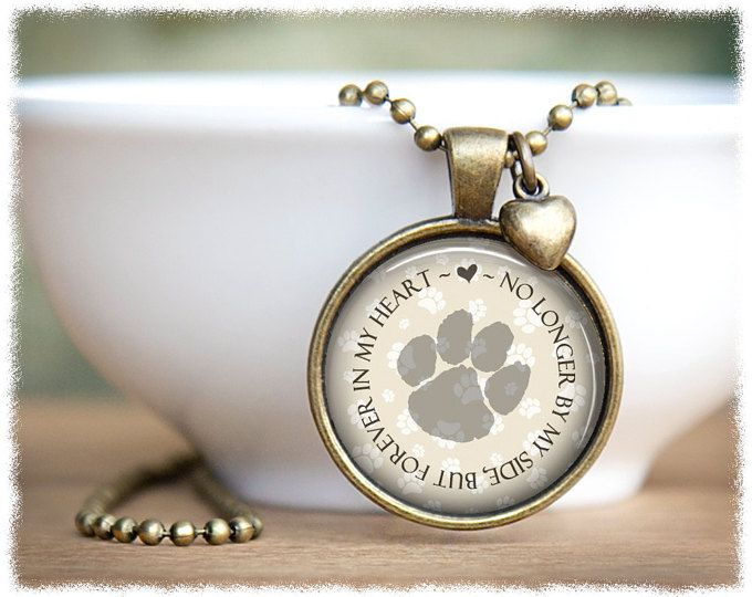 Loss of Pet Necklace • Dog Memorial • Pet Memorial Jewelry • Cat Memorial Necklace • Pet Loss