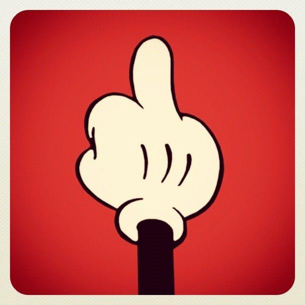 o dedo do meio as vezes é a melhor resposta...