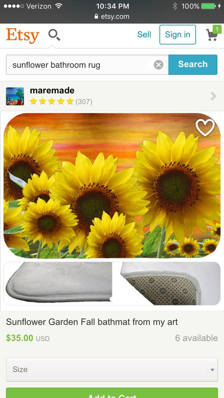 Sunflower bathroom