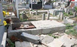 Ladrones de tumbas hacen destrozos en cementerio de La Guaira